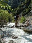River crossing on the Zhulat- Kuç Hike
