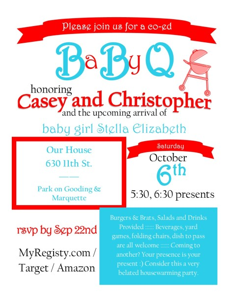 BaByQ Invitation Template