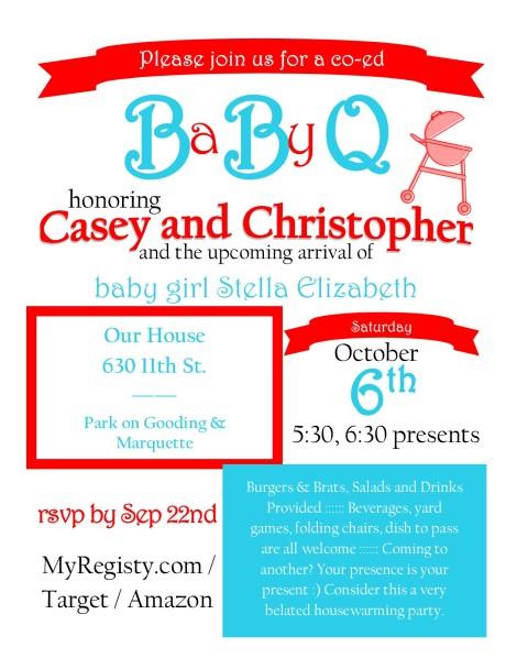 BaByQ Invitation Template